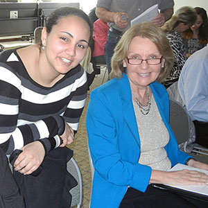 Mary Nasr and Dr. Carol Bagnell.